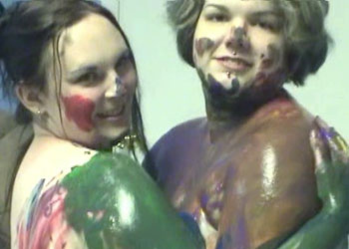 Body painted BBWs Christina & Madalyn